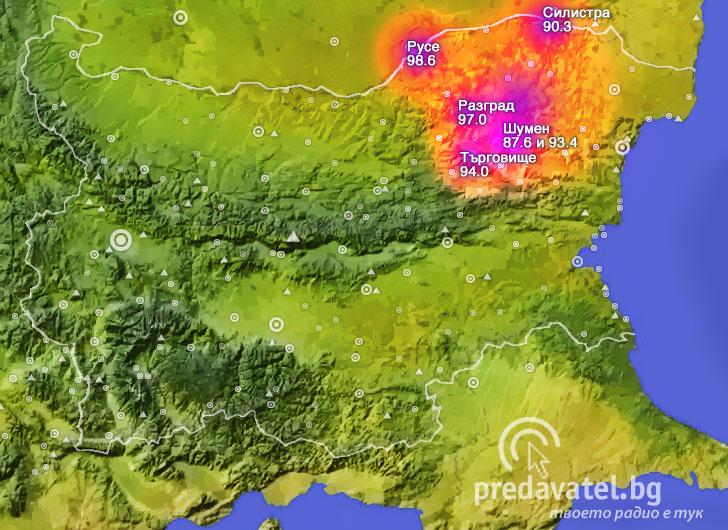 Karta Na Pokritie Na Bnr Radio Shumen Predavatel Blgariya